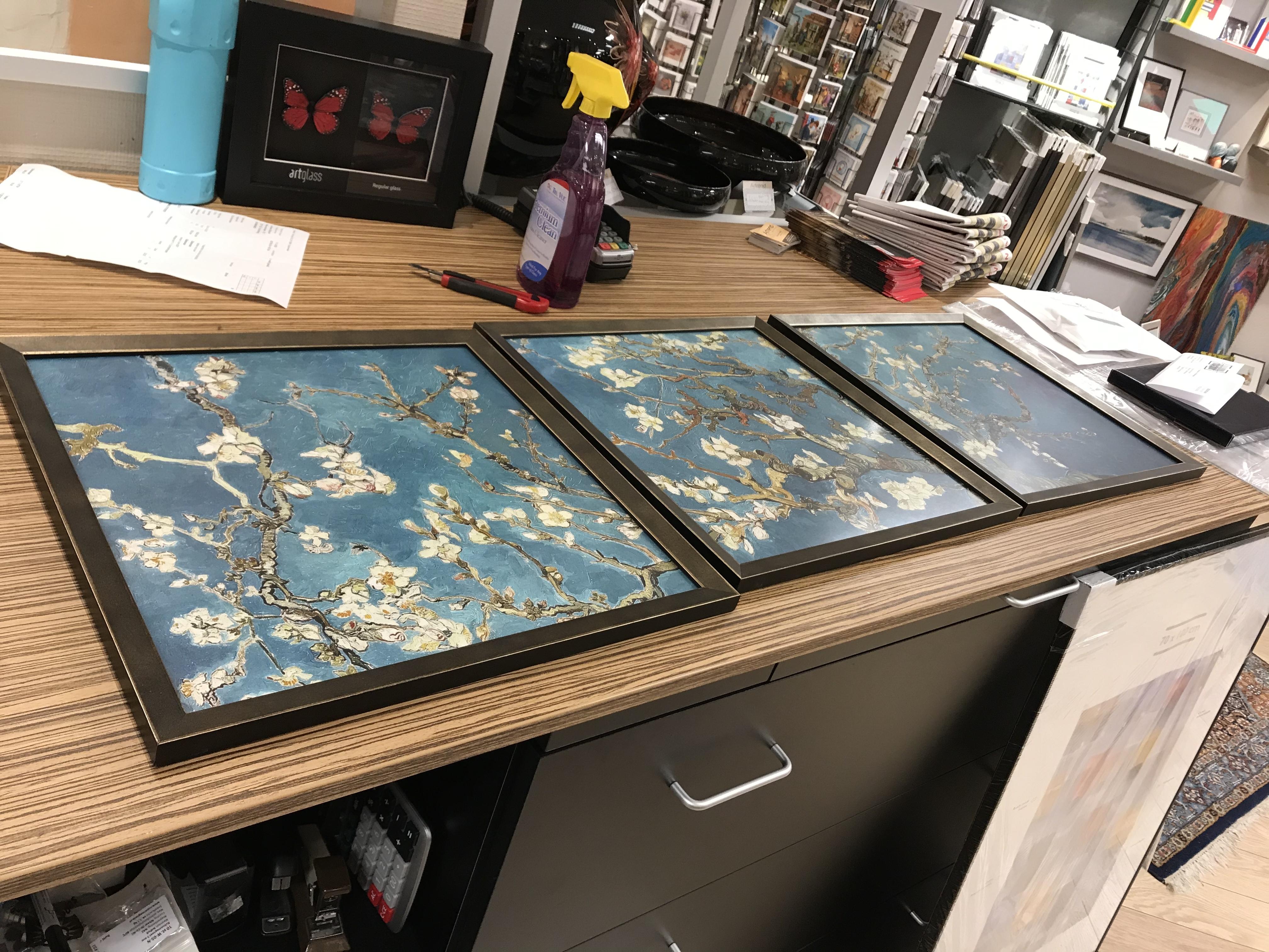 Van Gogh printserie mooi ingelijsd